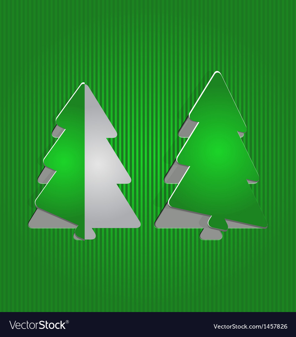 Christmas cutout paper tree minimal background vector | Price: 1 Credit (USD $1)