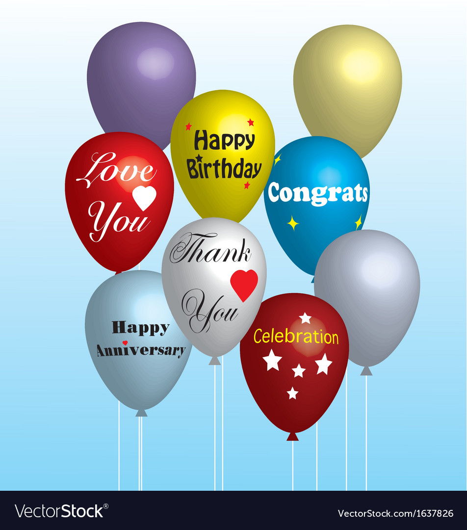 Colorful balloons in vector   Price: 1 Credit (USD $1)