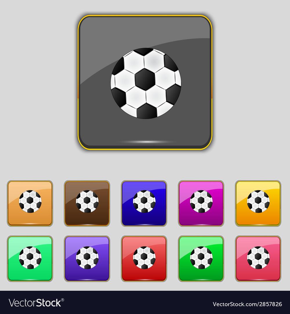 Football ball sign icon soccer sport symbol set vector   Price: 1 Credit (USD $1)
