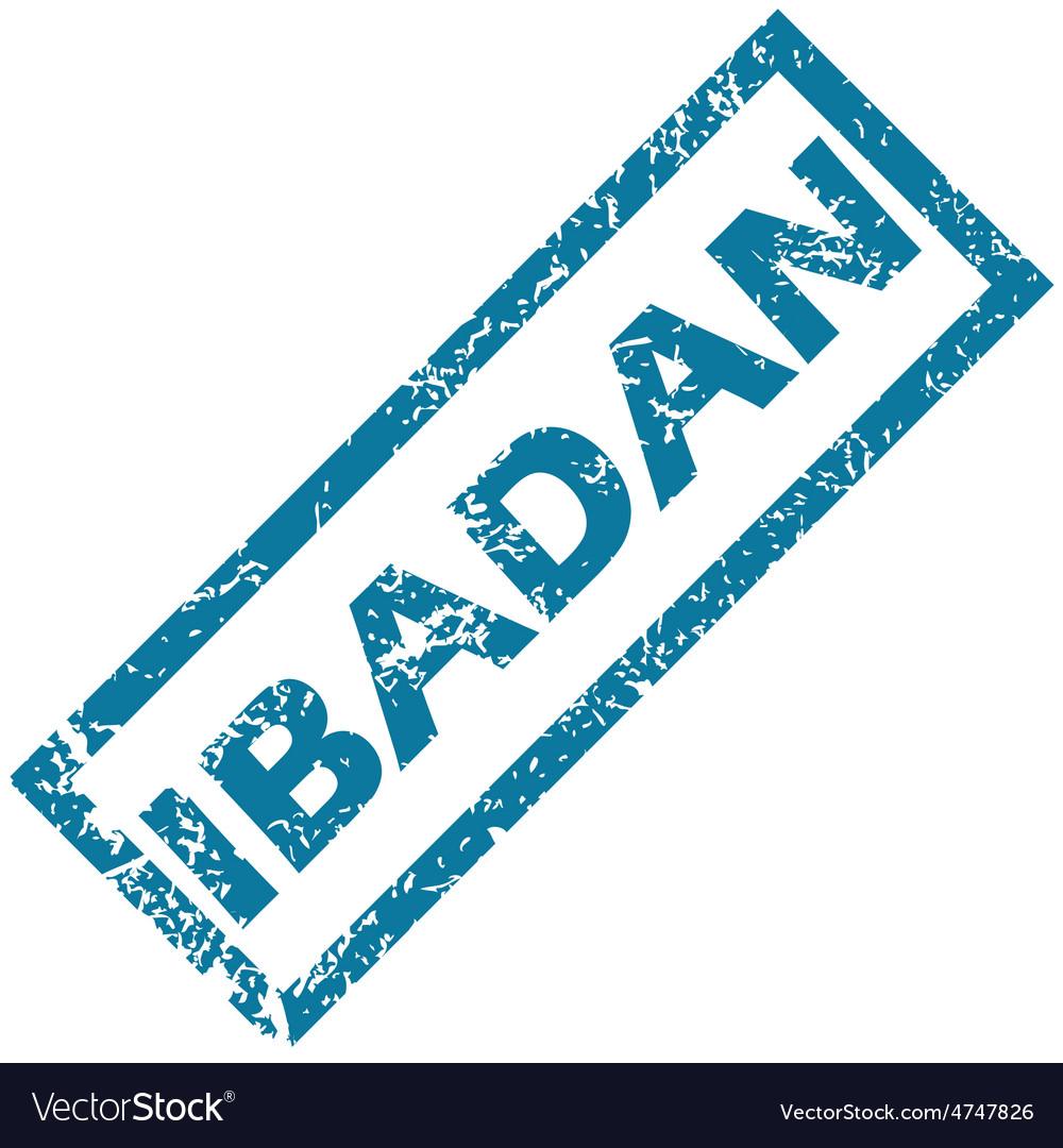 Ibadan rubber stamp vector | Price: 1 Credit (USD $1)