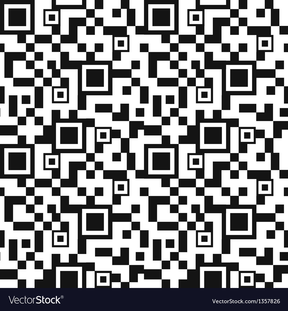Qr code seamless pattern background vector | Price: 1 Credit (USD $1)