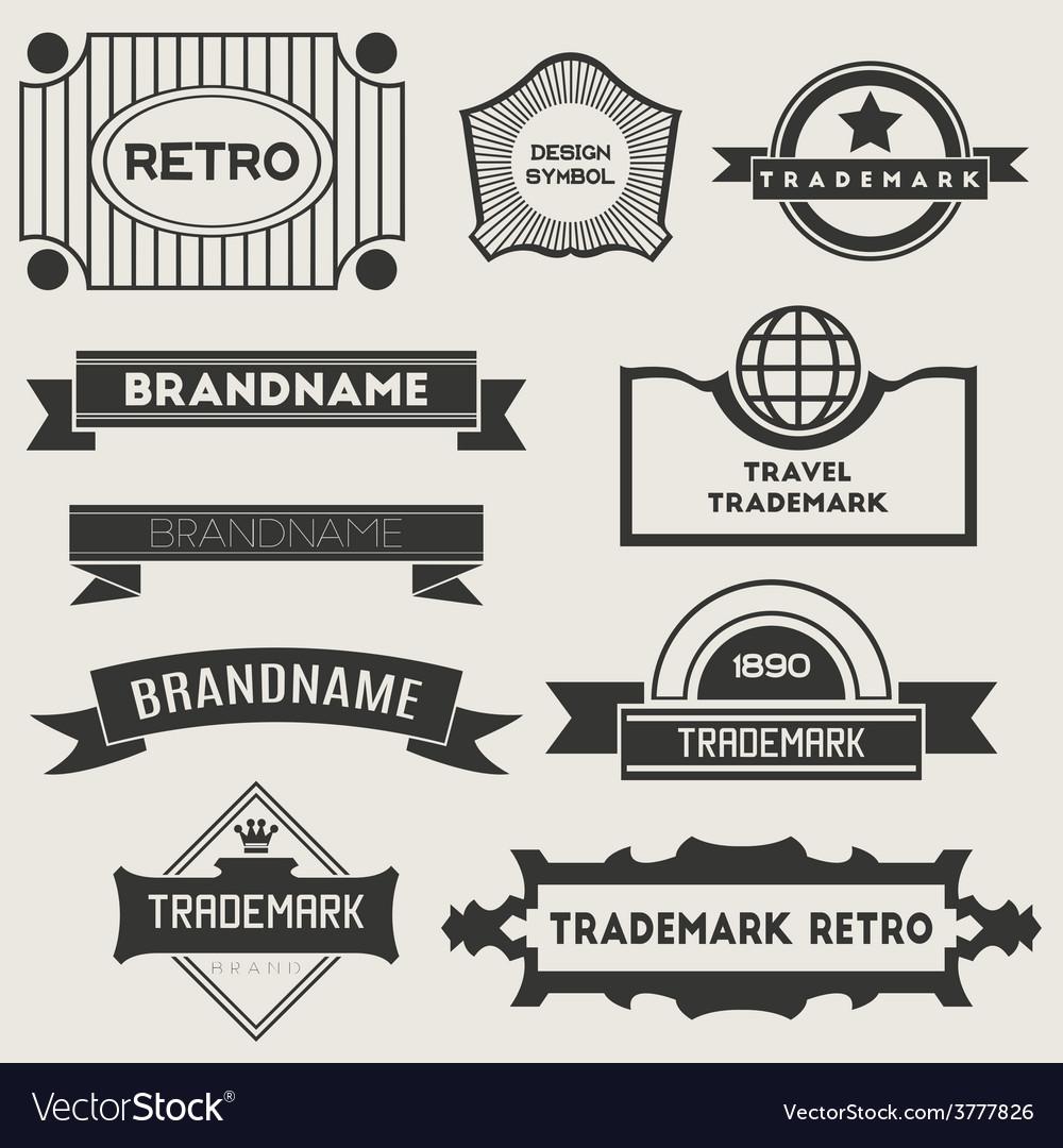 Retro vintage logotypes vector | Price: 3 Credit (USD $3)