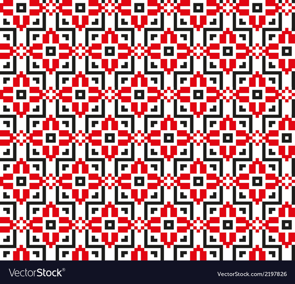 Seamless pattern with geometric flowers vector | Price: 1 Credit (USD $1)