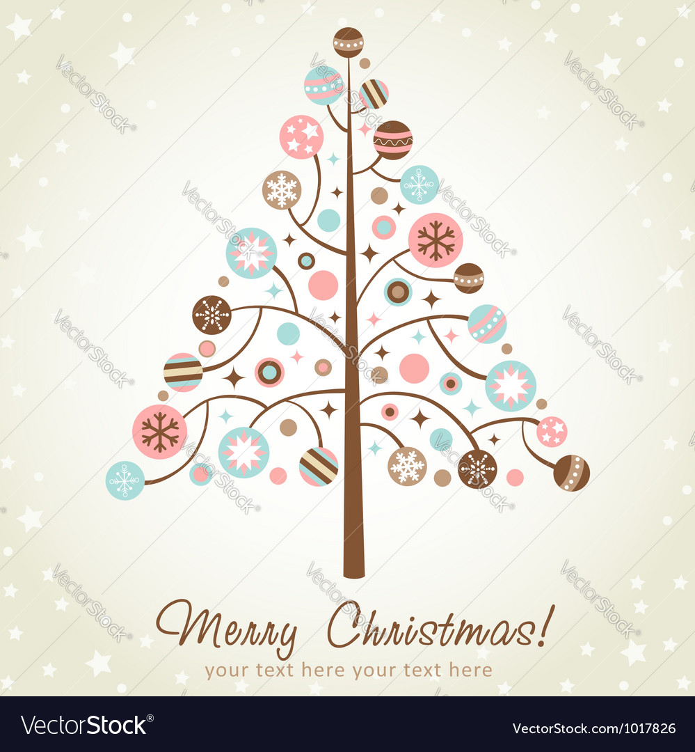Stylized design christmas tree vector | Price: 1 Credit (USD $1)