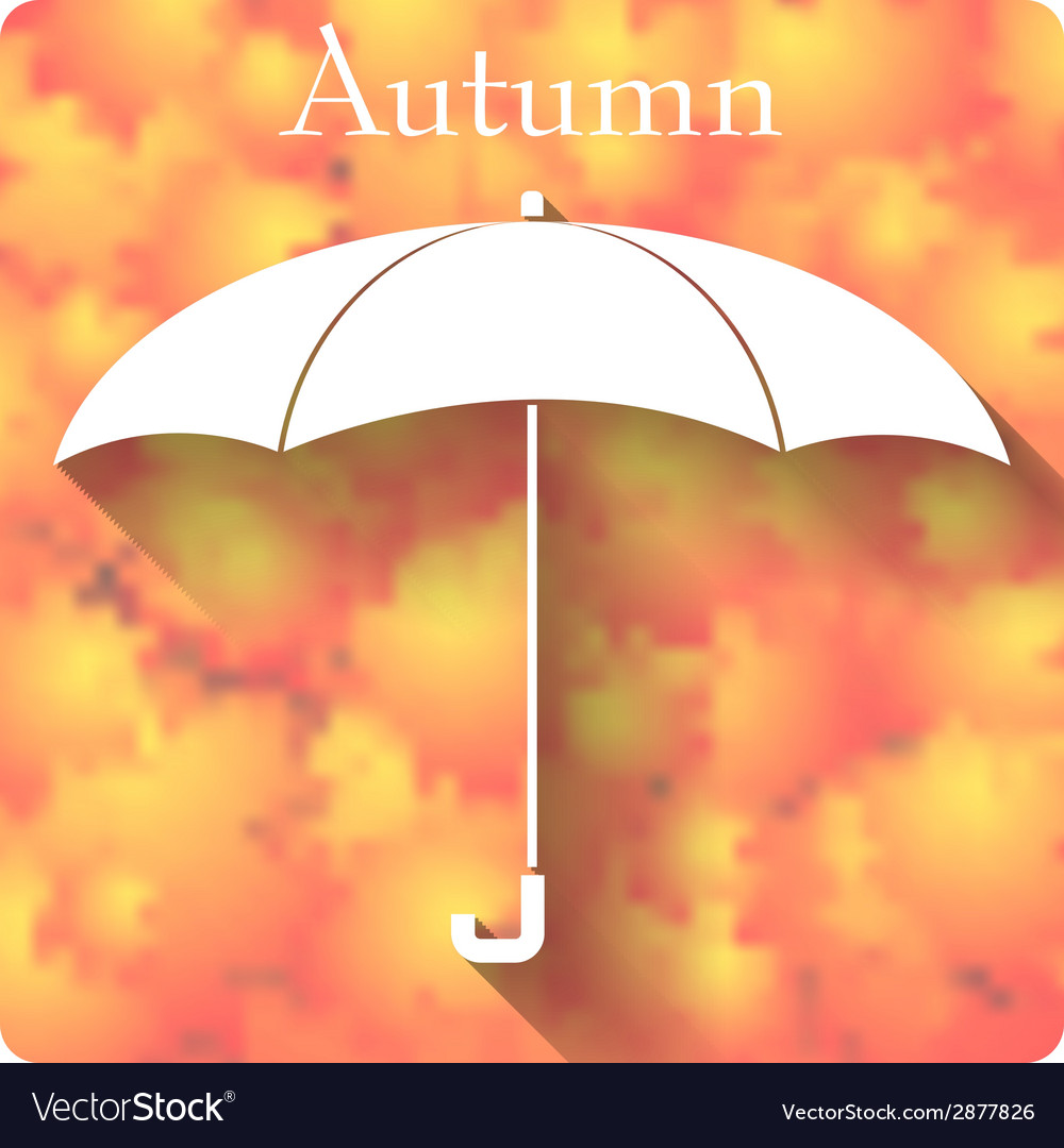 Umbrella icon on autumn background vector | Price: 1 Credit (USD $1)
