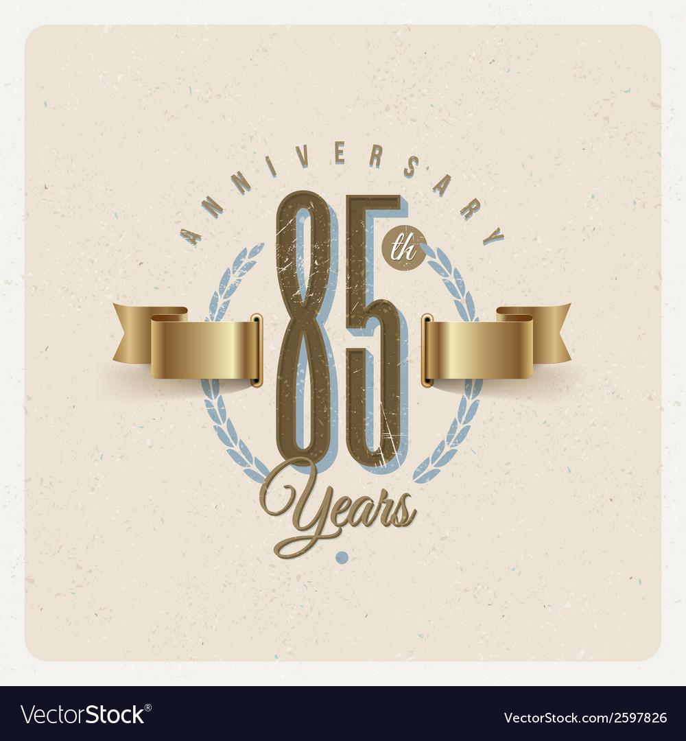 Vintage anniversary type emblem vector | Price: 1 Credit (USD $1)