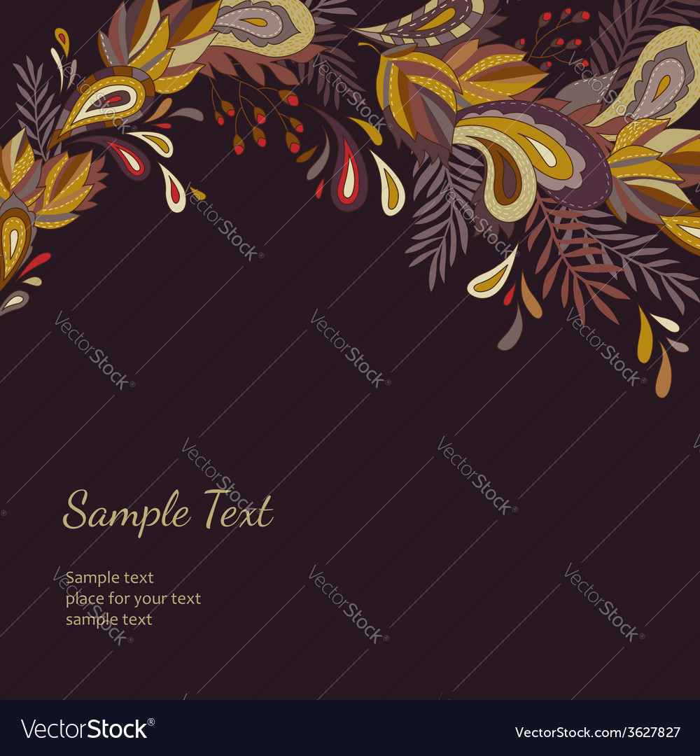 Background autumn ornament vector | Price: 1 Credit (USD $1)