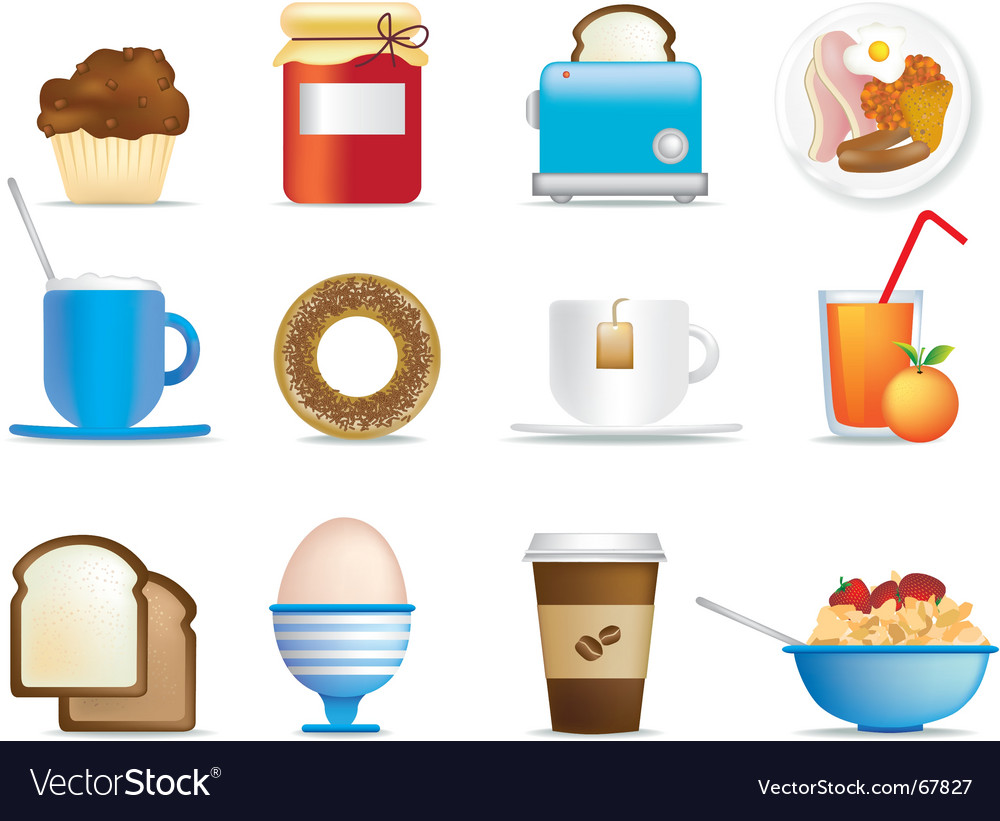 Breakfast icons vector | Price: 1 Credit (USD $1)