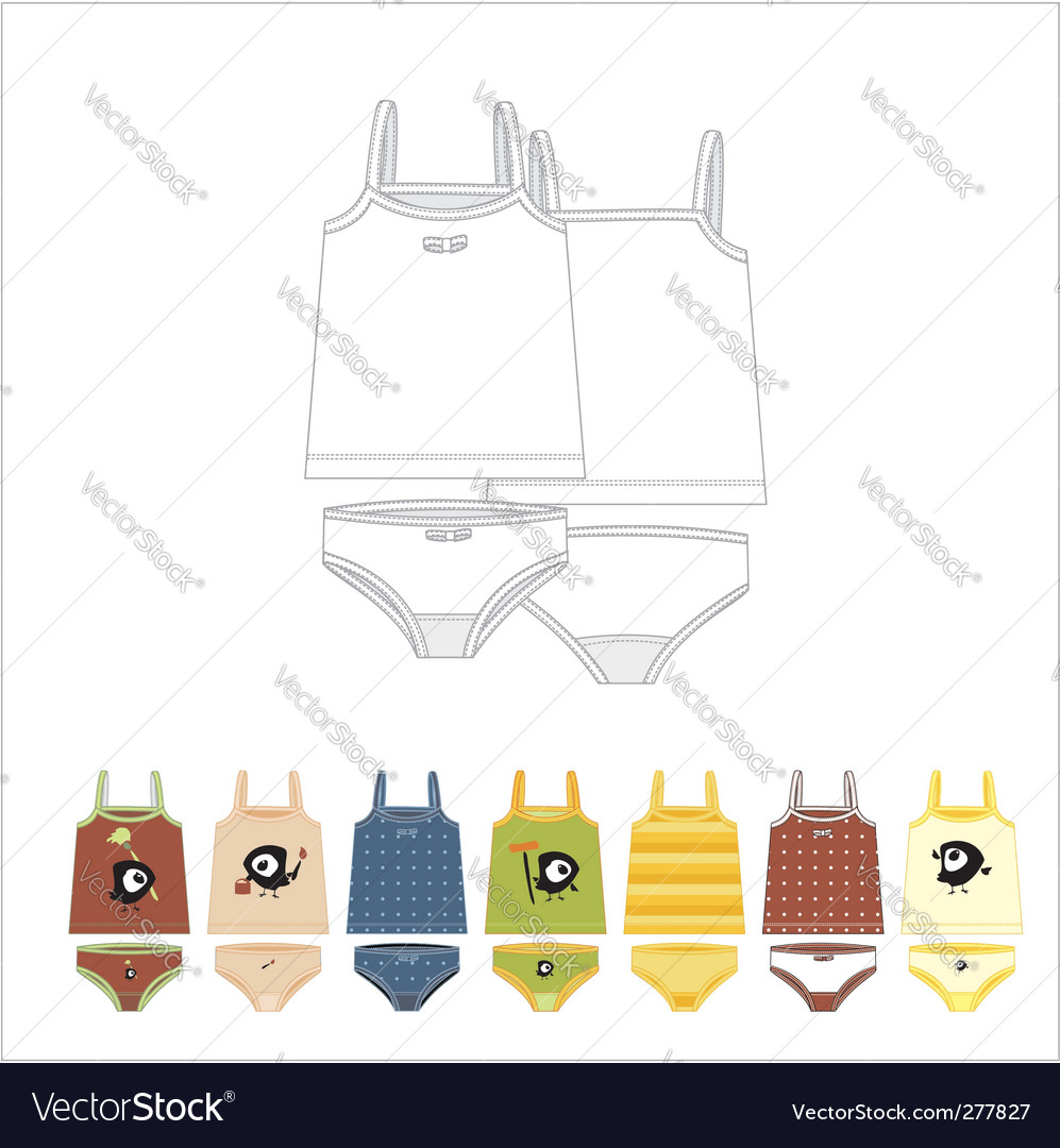 Children clothes vector | Price: 1 Credit (USD $1)