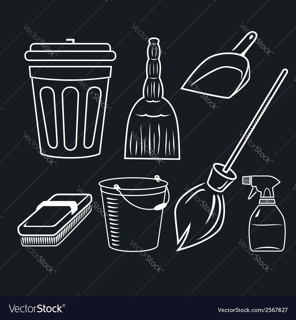 Cleaning set vector | Price: 1 Credit (USD $1)