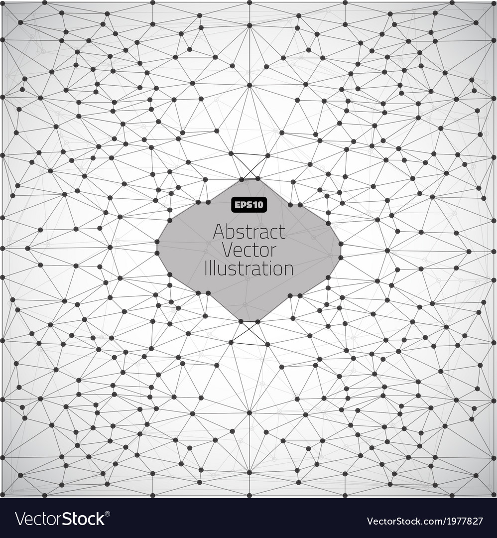 Geometric connection vector | Price: 1 Credit (USD $1)