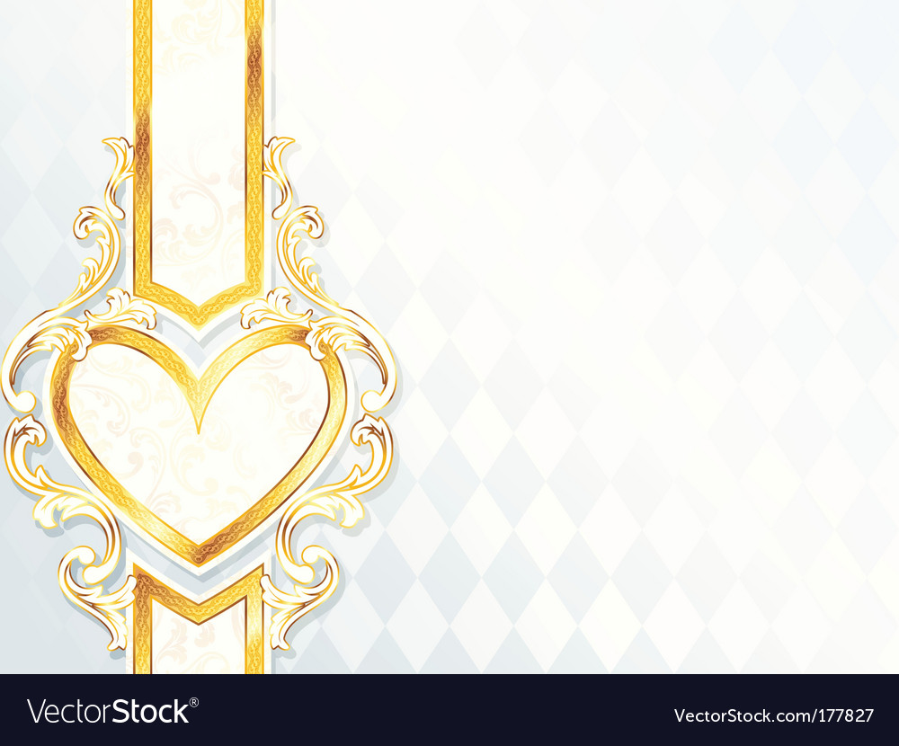 Label with heart emblem vector | Price: 1 Credit (USD $1)