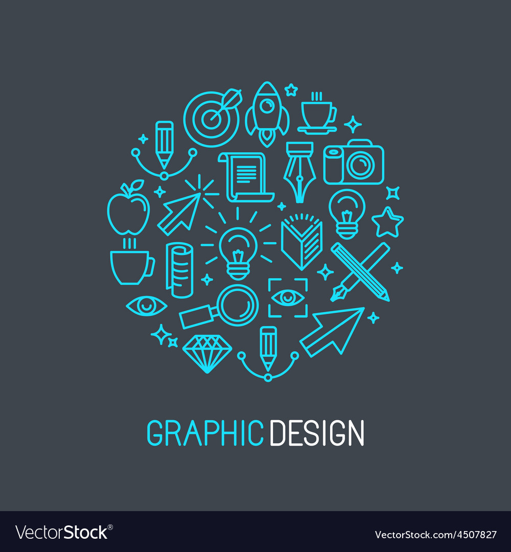Linear graphic design concept vector | Price: 1 Credit (USD $1)