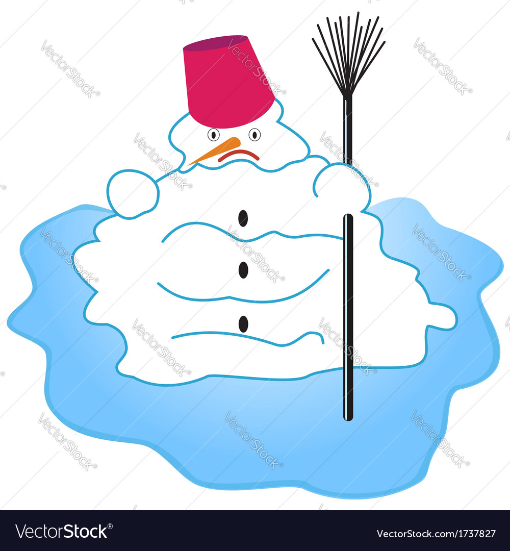 Melting snowman vector | Price: 1 Credit (USD $1)