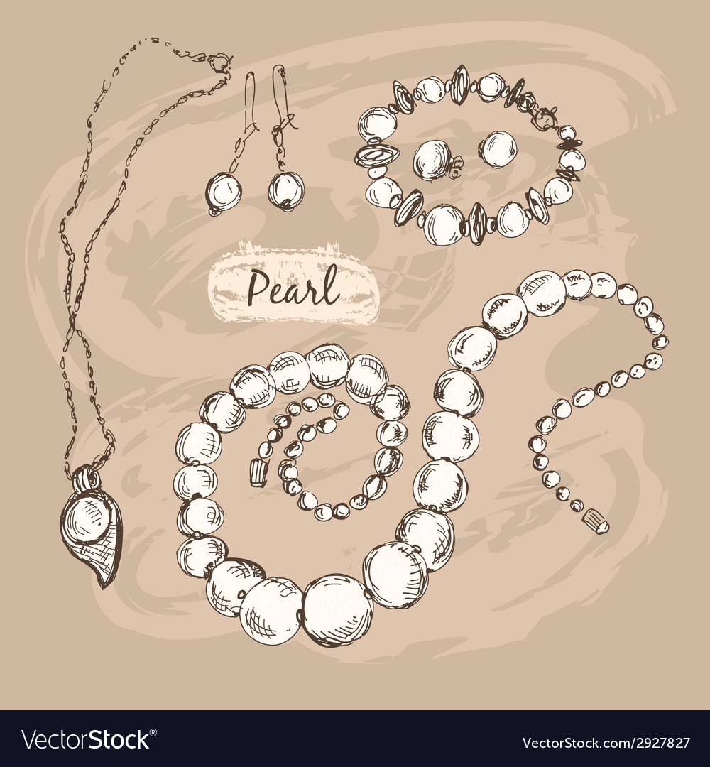 Pearl collection vector | Price: 1 Credit (USD $1)