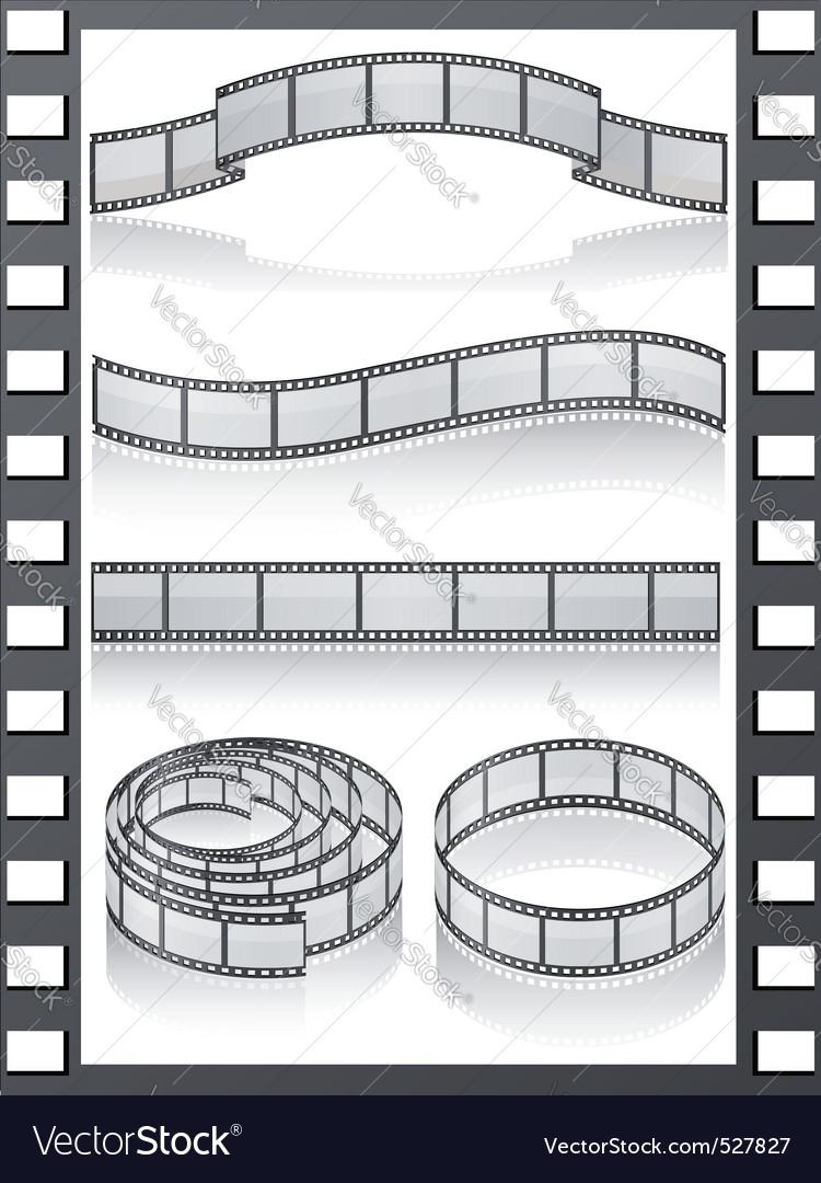 Set filmstripe icons vector | Price: 1 Credit (USD $1)