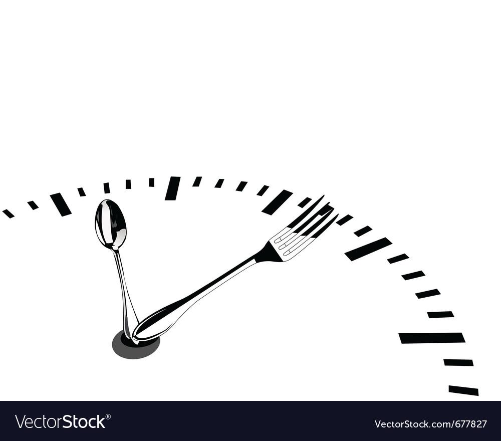 Teaspoon and fork vector
