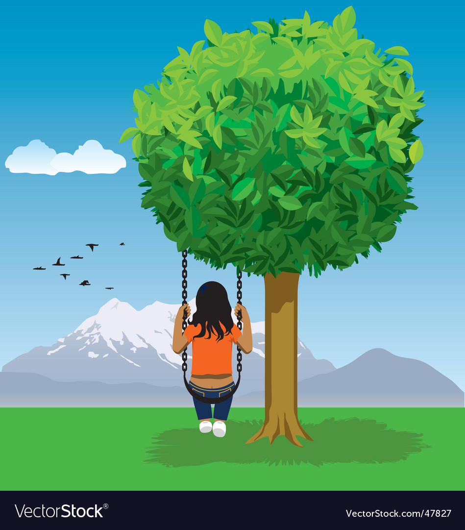Tree in peace vector | Price: 1 Credit (USD $1)
