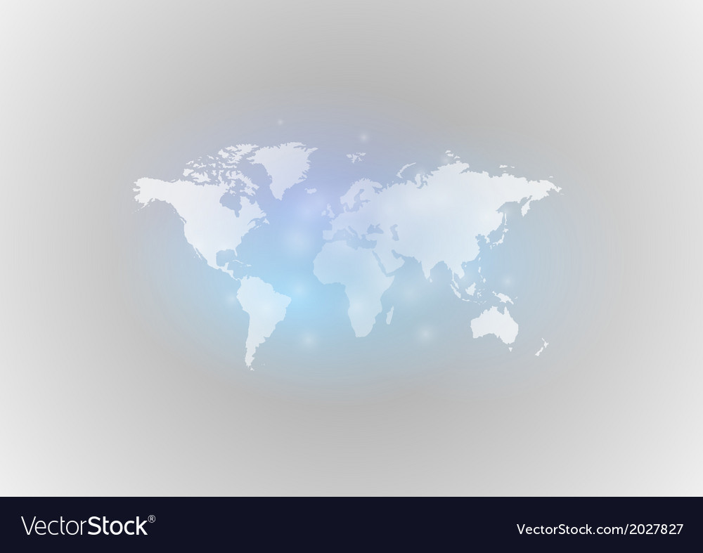 World map gray blue vector | Price: 1 Credit (USD $1)