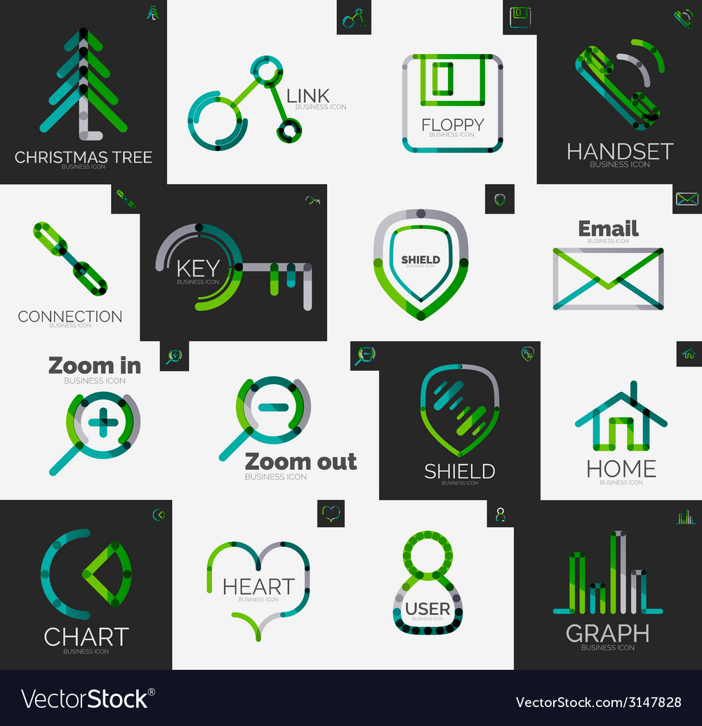 Abstract company logo collection vector   Price: 1 Credit (USD $1)