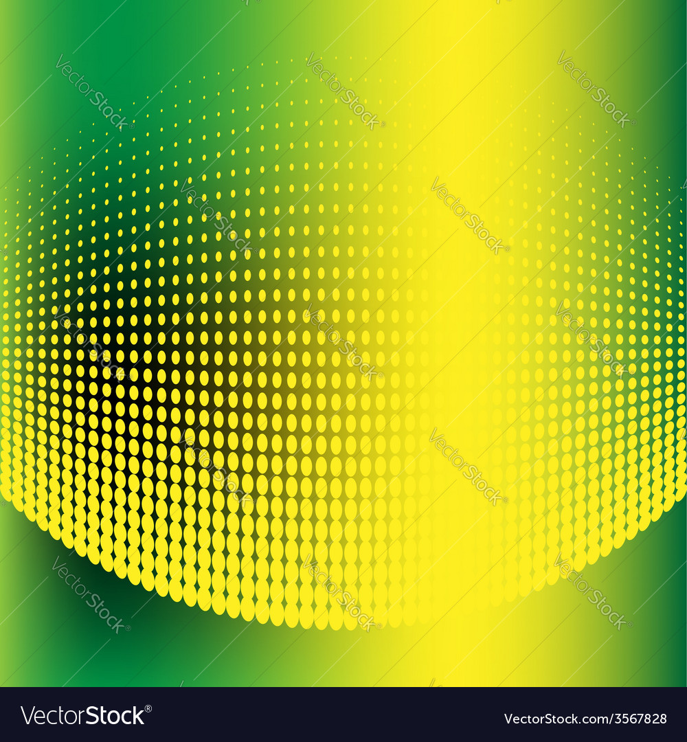 Abstract halftone green and yellow background vector | Price: 1 Credit (USD $1)
