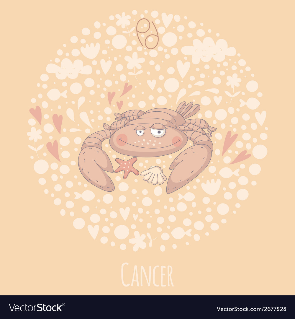 Cartoon of the crab cancer vector | Price: 1 Credit (USD $1)