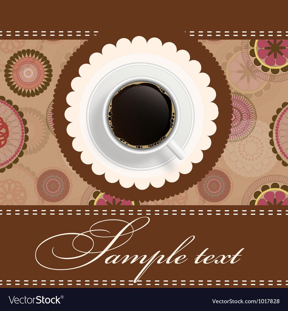 Coffee invitation background vector | Price: 1 Credit (USD $1)