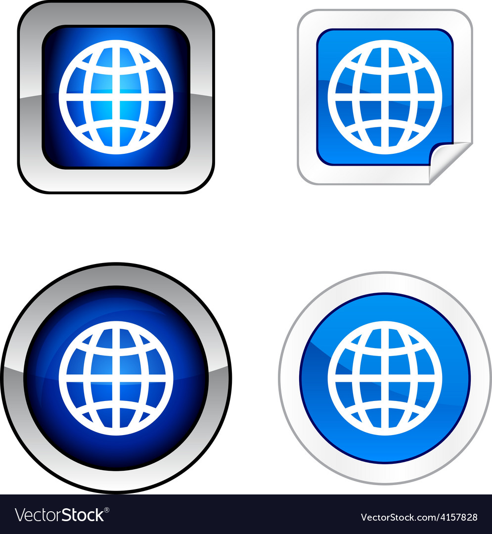 Earth button set vector   Price: 1 Credit (USD $1)