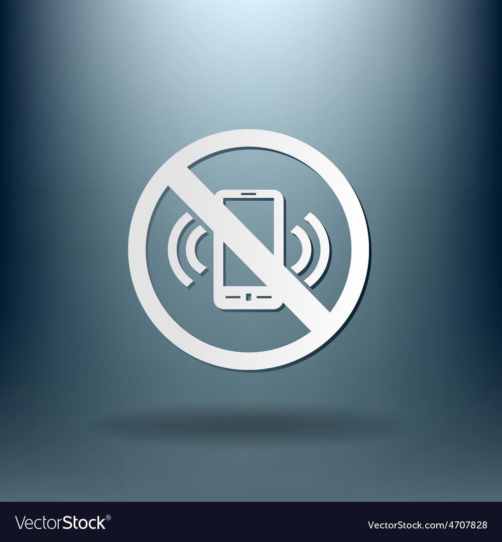 Forbidden to use phone forbidding symbol vector   Price: 1 Credit (USD $1)