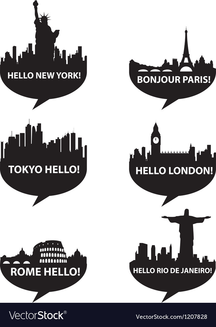 Hello city vector | Price: 1 Credit (USD $1)