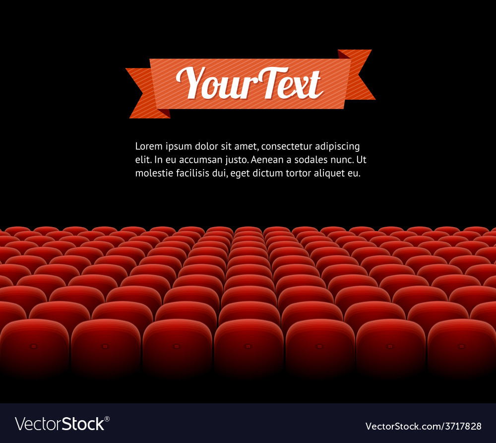 Red cinema theatre seats vector | Price: 1 Credit (USD $1)
