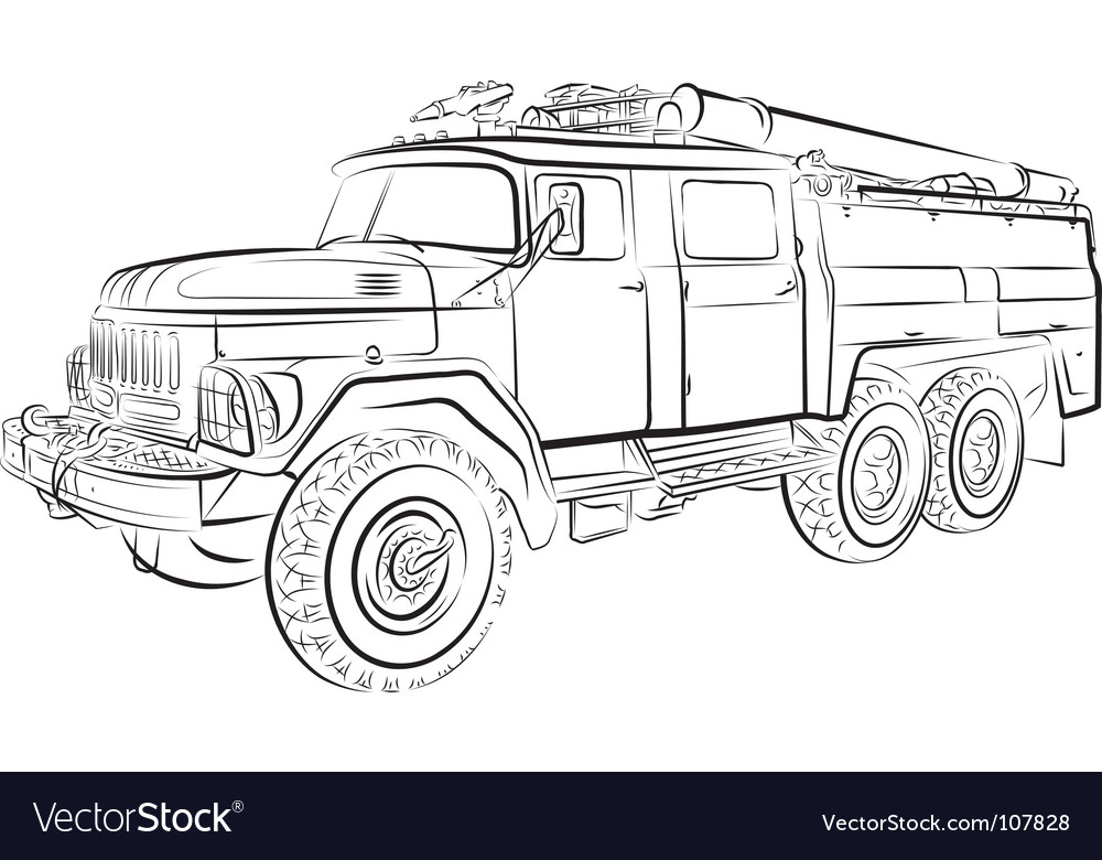 Russian fire engine vector | Price: 1 Credit (USD $1)