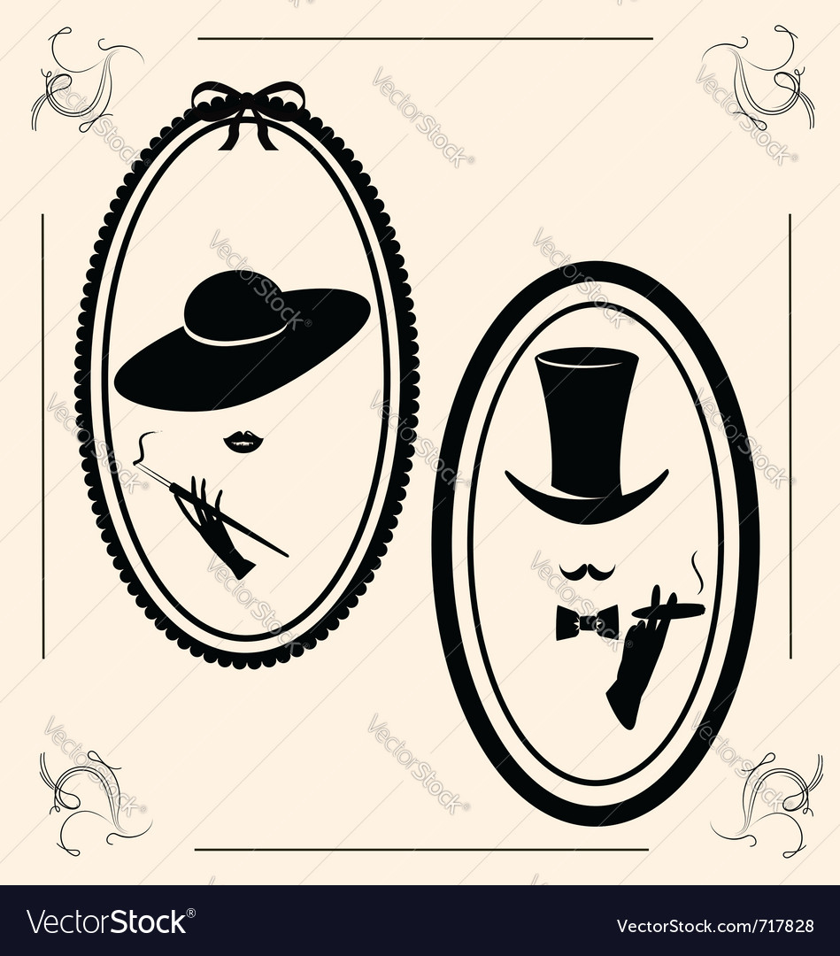 Vintage womans hat vector | Price: 1 Credit (USD $1)