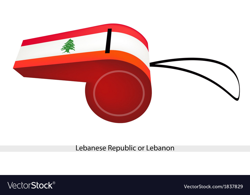 A whistle of the lebanese republic flag vector | Price: 1 Credit (USD $1)