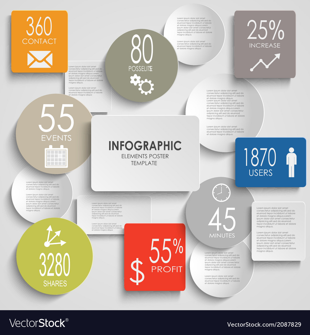 Abstract colored round rectangle info graphic vector   Price: 1 Credit (USD $1)