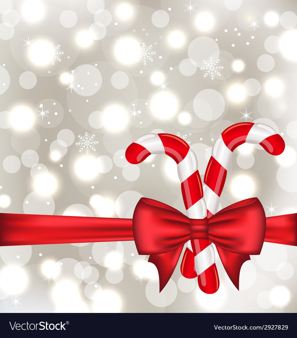 Christmas glowing background with gift bow and vector | Price: 1 Credit (USD $1)