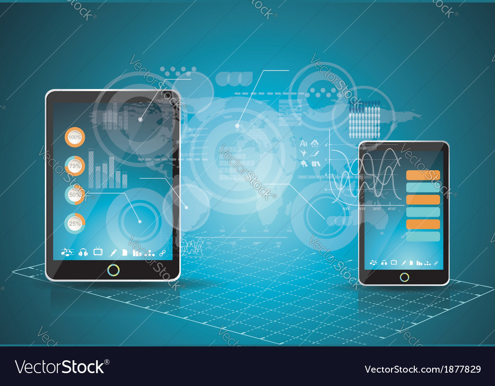 Mobile phones technology business concept vector | Price: 1 Credit (USD $1)