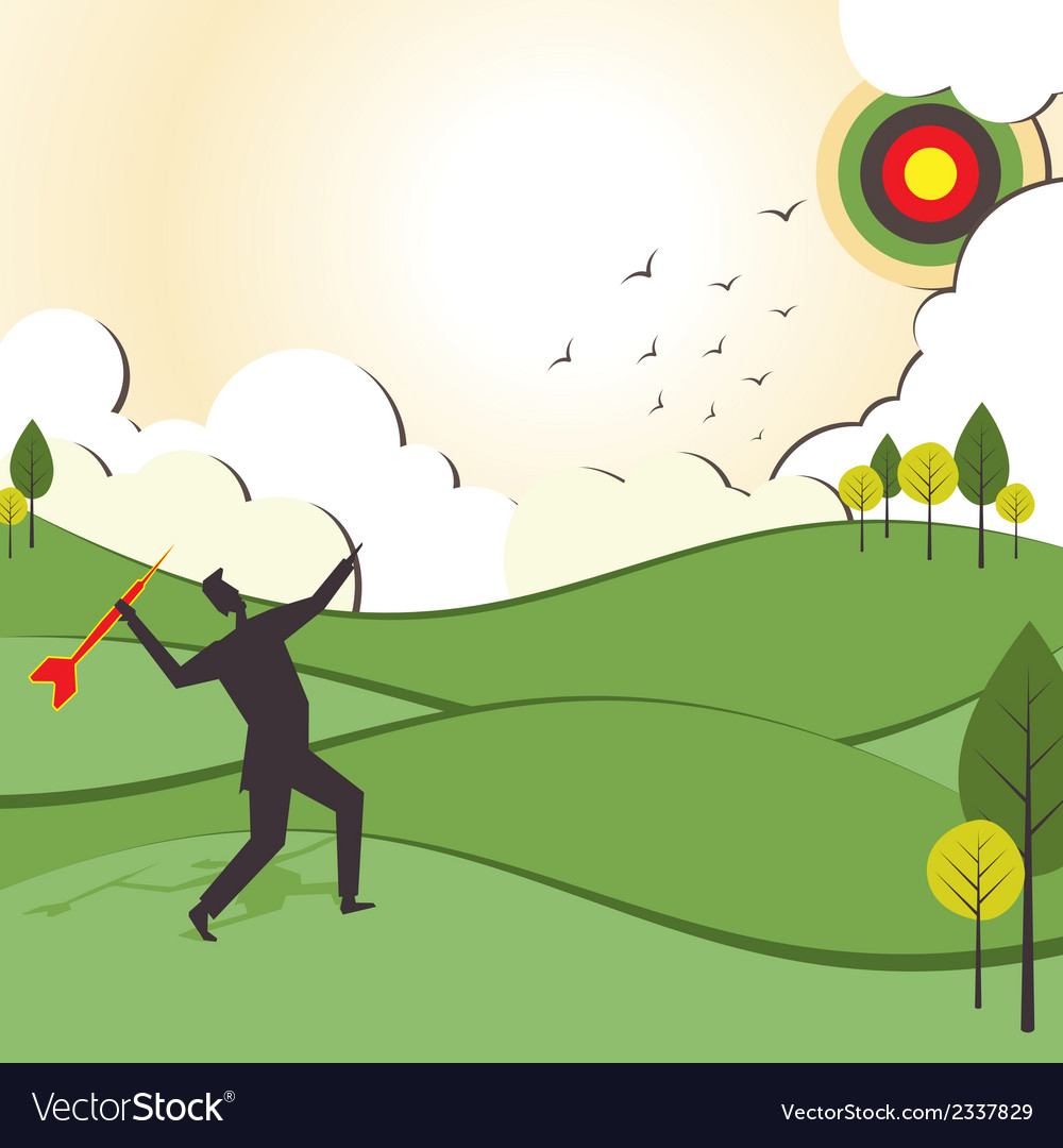 People hit to archery board vector | Price: 1 Credit (USD $1)