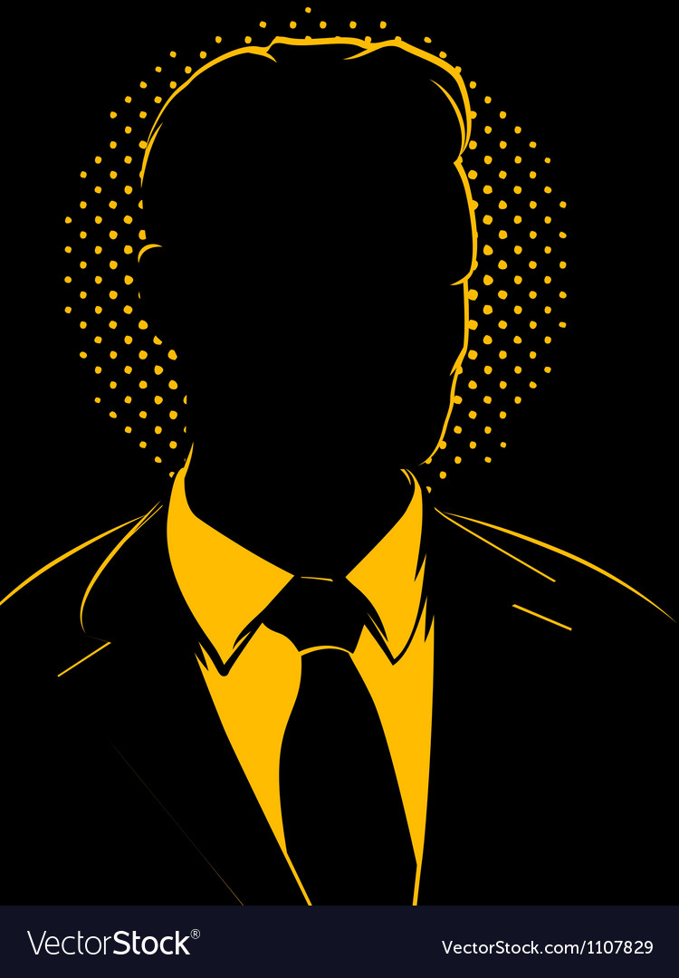 Retro comic business man silhouette vector | Price: 1 Credit (USD $1)
