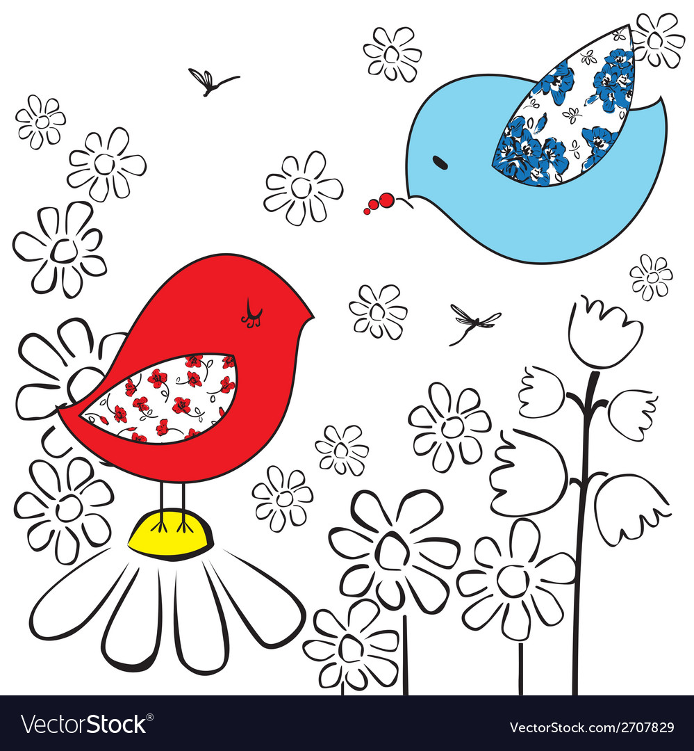 Two birds vector | Price: 1 Credit (USD $1)