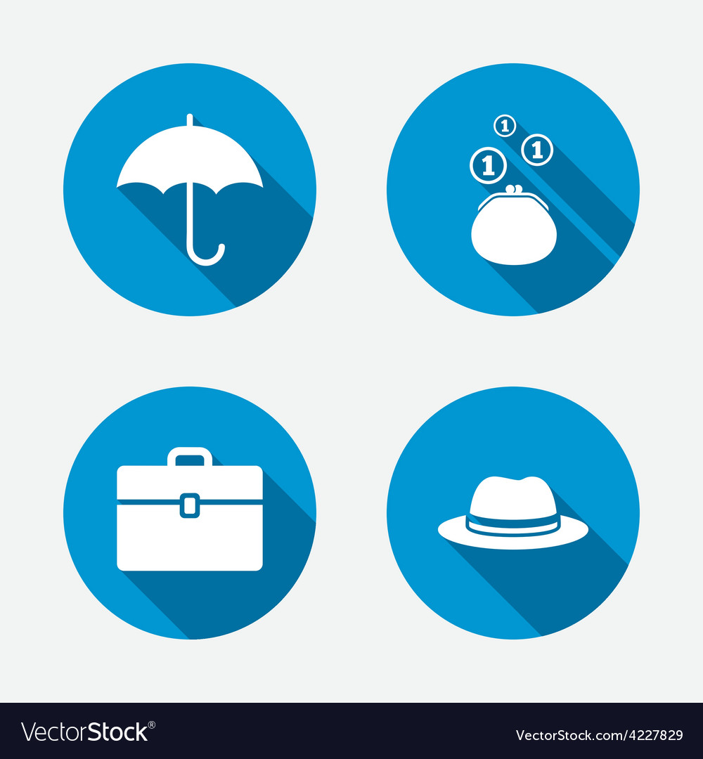 Umbrella wallet and hat with case vector | Price: 1 Credit (USD $1)