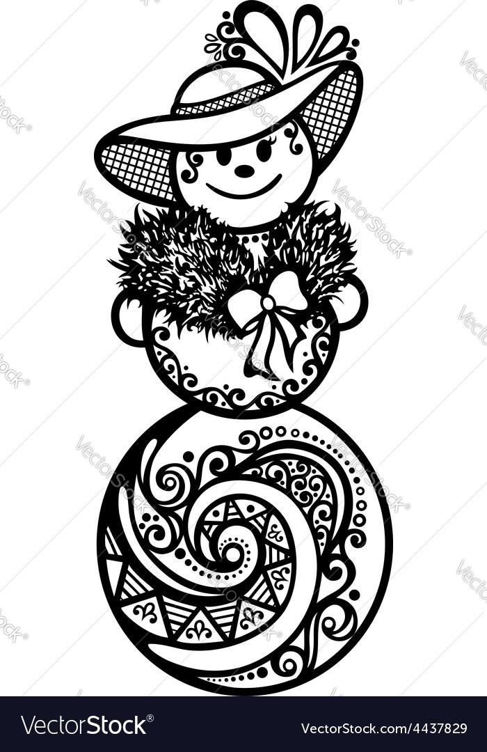 Winter snowman design vector | Price: 1 Credit (USD $1)