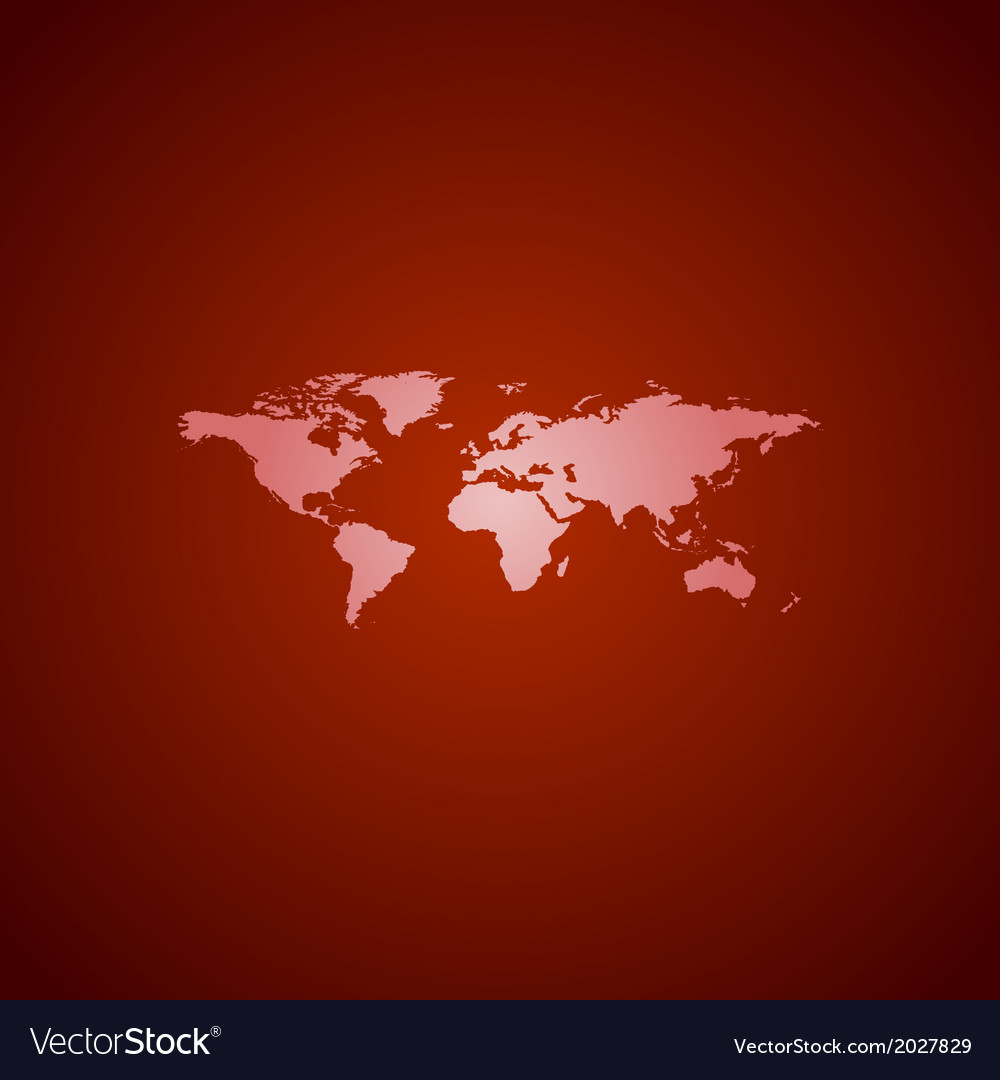 World map red vector | Price: 1 Credit (USD $1)