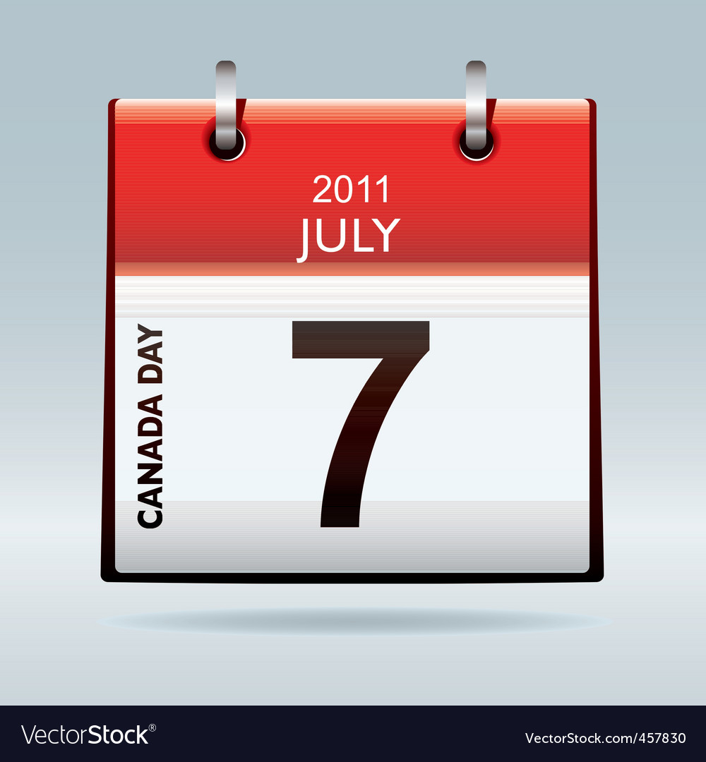 Canada day calendar icon vector | Price: 1 Credit (USD $1)