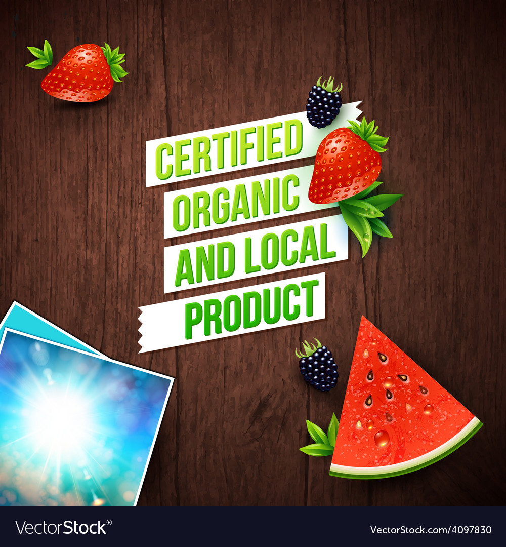 Certified local organic products vector | Price: 1 Credit (USD $1)
