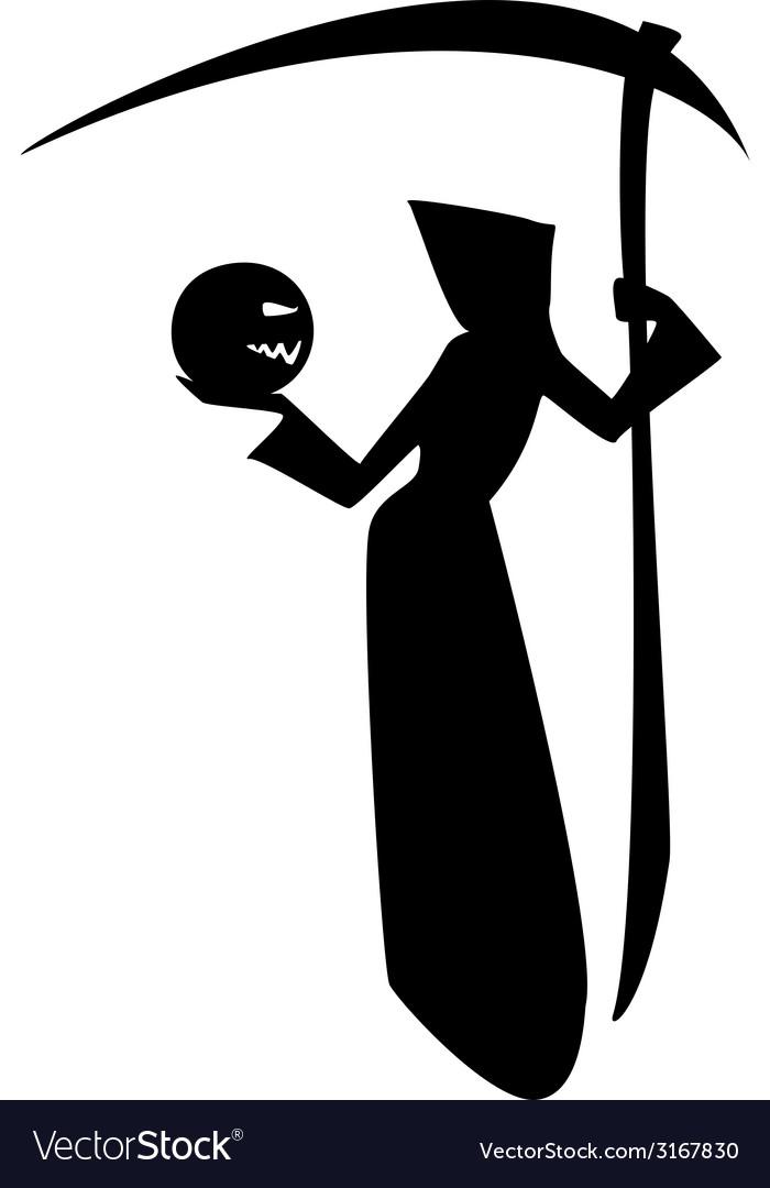 Death and pumpkin vector | Price: 1 Credit (USD $1)