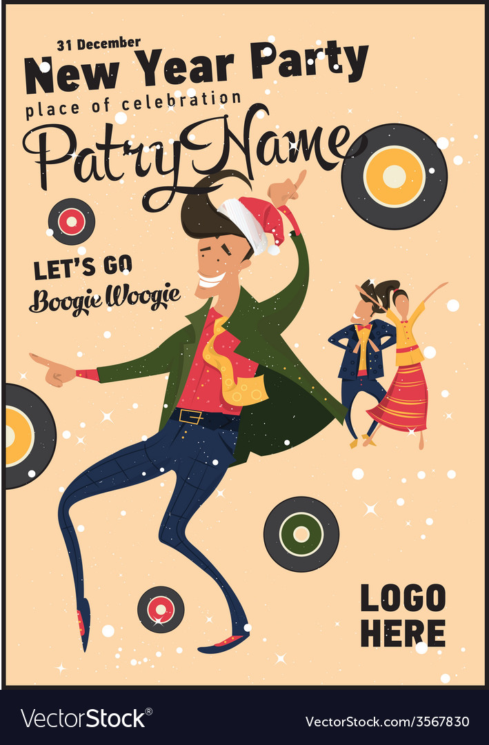 Hipsters retro party vector | Price: 1 Credit (USD $1)