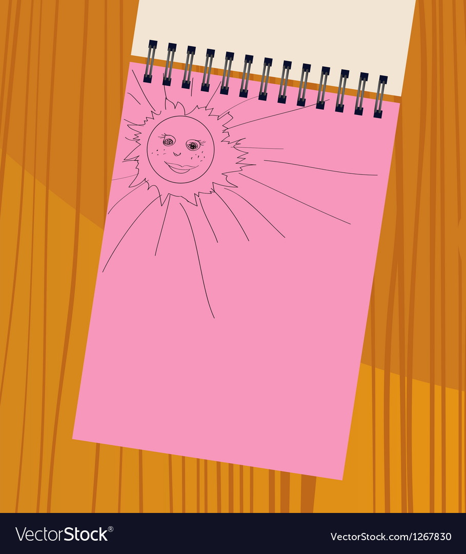 Notebook with the sun vector | Price: 1 Credit (USD $1)