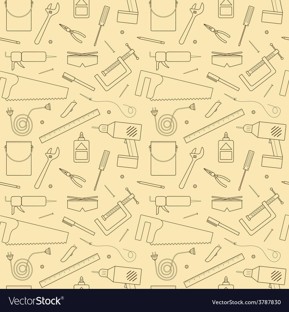 Seamless workshop tools pattern vector | Price: 1 Credit (USD $1)
