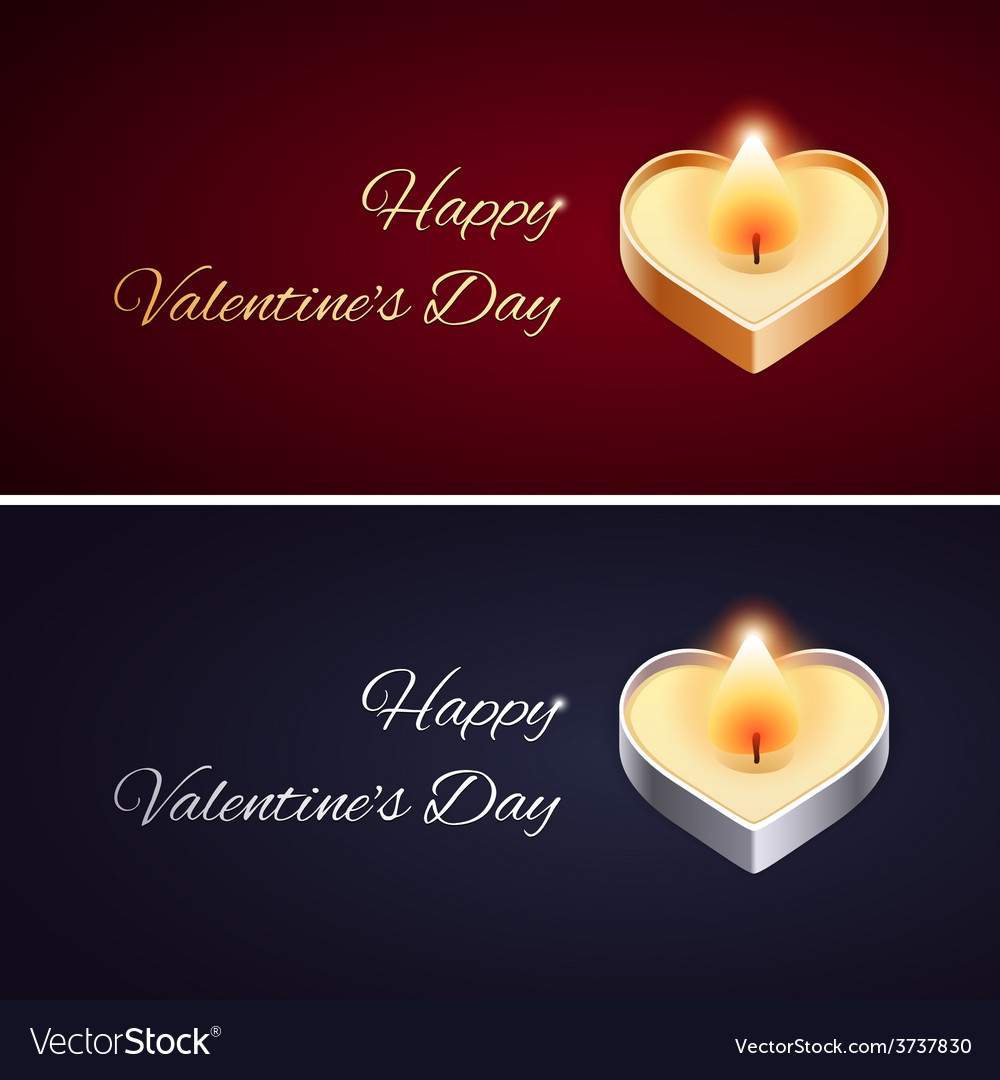 Simple valentines day card with golden and silver vector | Price: 1 Credit (USD $1)